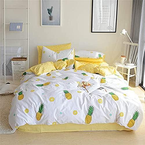 HANDONTIME Kid's Ranking TOP7 Pineapple Duvet Cover NEW before selling Summer Cute Co Kawaii Set
