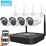 Wireless Security Camera System, GENBOLT Outdoor 1080P Home WiFi Security Surveillance Camera System
