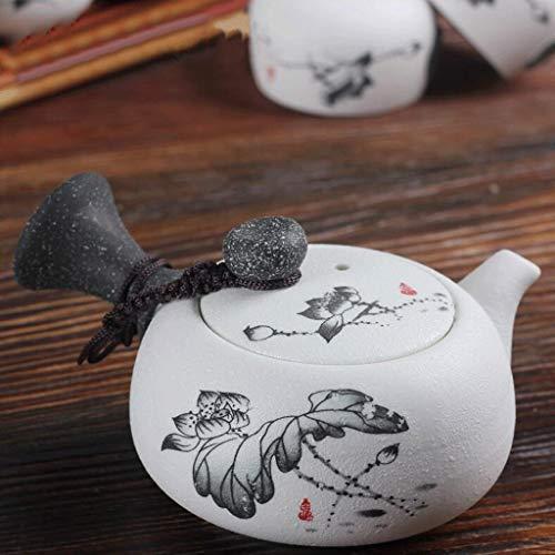 Praktischer Seitengriff Teekanne Keramik Teeservice Teekocher Filter Teekanne Haushaltsbüro 160ML ZHHYDF