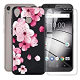 JIENI Case for Gigaset GS185 + Tempered Glass Screen