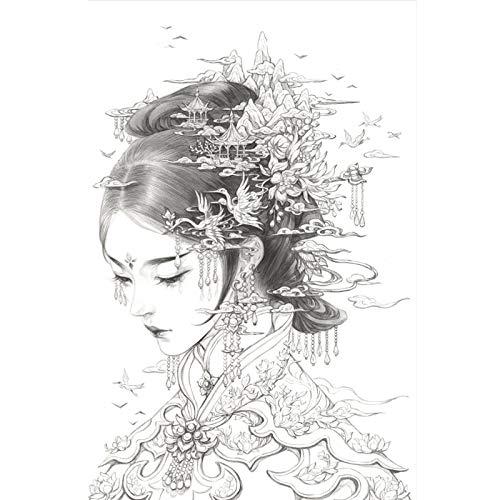Libro da colorare cinese per schizzi, disegno, libri cinesi da disegno, antica bellezza, libro da colorare per adulti, antistress #4