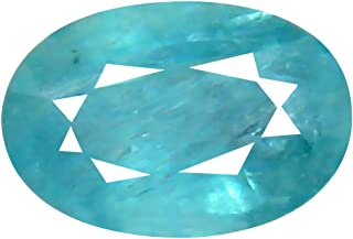 Deluxe Gems 0.67 ct Oval Cut (7 x 5 mm) Unheated/Untreated Greenish Blue Grandidierite Natural Gemstone