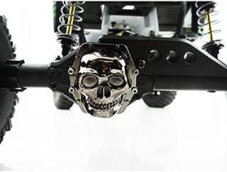 Hot Racing WRA12CT01 Metal Skull AR60 Diff Cover (Black Chrome) - Yeti Wraith AX