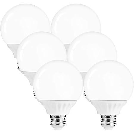 Lohas G25 Globe Light Bulbs Led Vanity Lights 40 45w Equivalent Daylight 5000k Bathroom Round Light Bulb 520lm Lights E26 Edison Base Lamp For Bathroom Makeup Mirror Home Lighting Not Dim 6 Pack