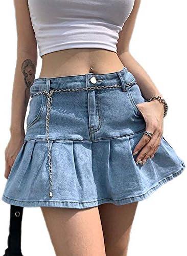 A line jean skirt _image4