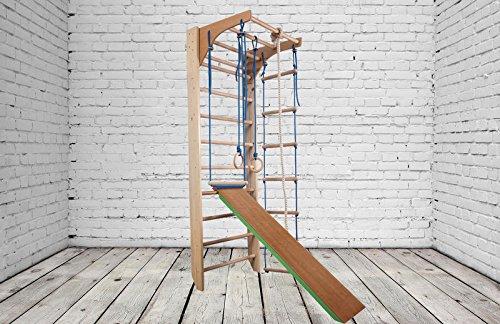 Zona de juegos de madera para interior KM-03-220 Escalera sueca Complejo deportivo de gimnasia: Amazon.es: Deportes y aire libre