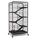 YINTATECH 52-inch Metal Animal Cage with Rolling Stand Indoor Outdoor for Ferret/ Squirrel/ Bunny/ Rabbit / Guinea Pig