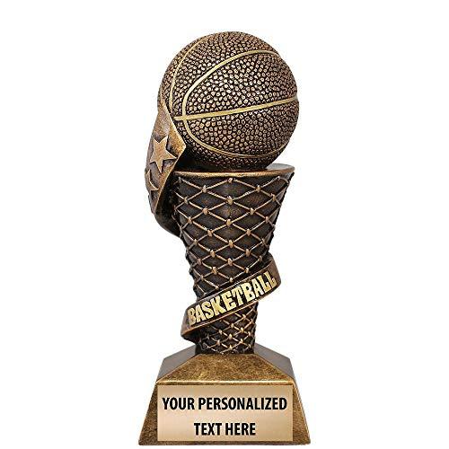 "Crown Awards Basketball Trophy   7 3/4"" Elite Basketball Team Trophies Custom   Free Engraving Included Prime"