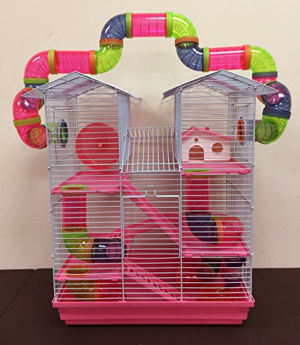 Twin Tower Tube Tunnel Hamster Habitat