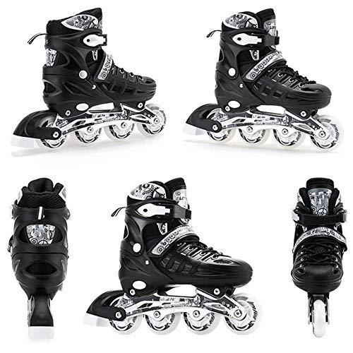 MRFYD 4 Size Adjustable Light Up Inline Roller Skates for Girls and Boys...