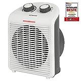 Bomann HL 6040 CB - Calefactor portátil y compacto (2 niveles de calor, 1000/2000 W, nivel de frío) Blanco