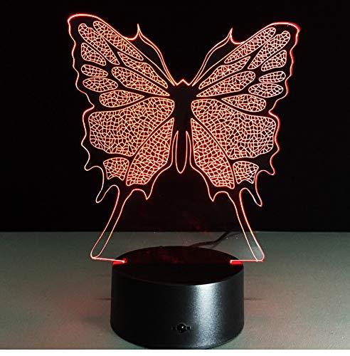 Veilleuses Beau Papillon Led Veilleuse Avec 7 Couleurs Magical Mood Light Décoration De La Chambre Décoration Art Cadeaux