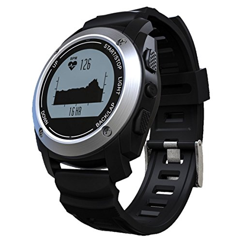 Water Resistant Smart Watch, intelligente pedometro braccialetto orologio intelligente, cardiofrequenzimetro, contatore di calorie, fitness salute Smartwatch per iOS iPhone 5/5S/6/6Plus/7/7Plus £ ¨ nero £