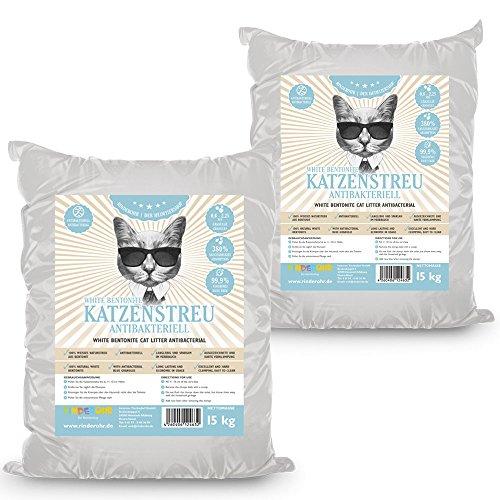 Rinderohr White Katzenstreu Antibakteriell 30kg