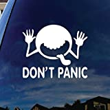 SoCoolDesign Don't Panic Galaxy Car Window Vinyl Decal Sticker 6' Wide (White)