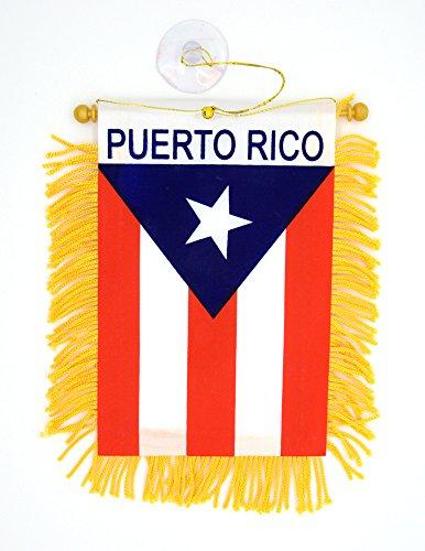 "Mini Banner ""Puerto Rico"" Auto Mirror 3""x5"" Flag"