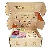 Organic Loose Leaf Tea | Tea Drops 15 Party Pack Instant Tea Sampler | Mix of Matcha Green Tea, Chai Tea, Rose Earl Grey, Blueberry Acai, Vanilla White or Thai Tea | Sweetened, Delicious Hot or Iced