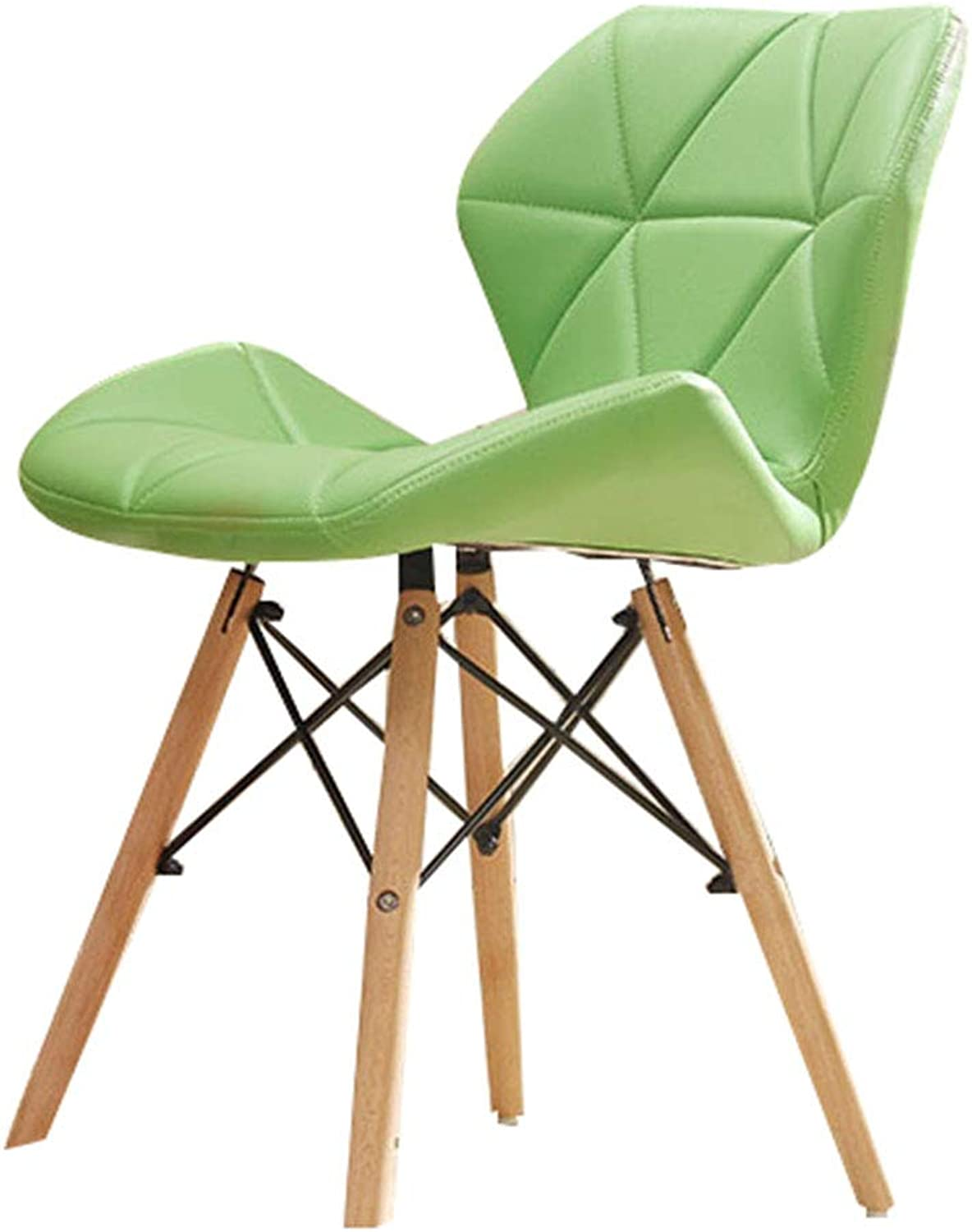 HQCC Chair Sponge Seat Solid Wood Stool Legs Soft Bouncy Assembly Retro bar Stool,high Stool (color   Green, Size   48x38x72cm)
