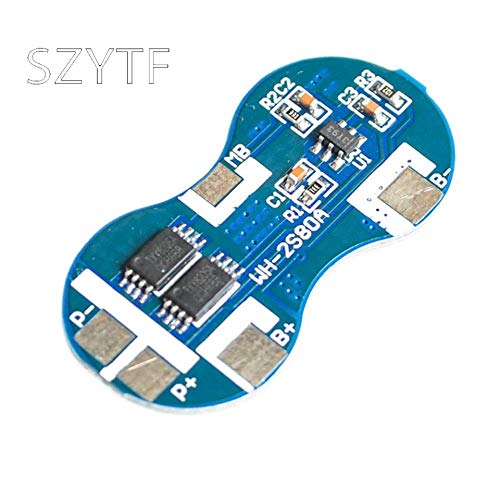Miwaimao 7.4V 2 18650 Series Dual-String Lithium Battery Protection Board 8.4V Over-Current Protection Chip 4A overshoot