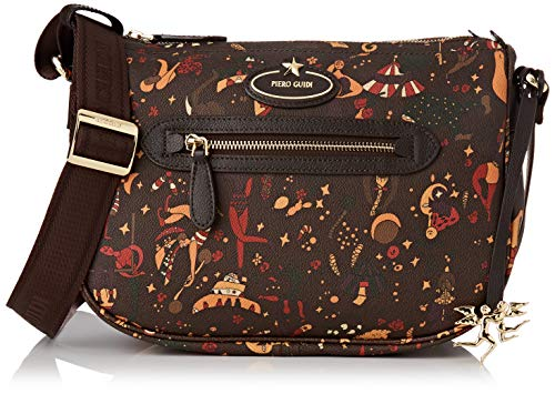 piero guidi Cross Body, Borsa a Tracolla Donna, Marrone (Fango), 30x25x12 cm (W x H x L)