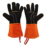 Dilwe BBQ Grill Gloves,1Pair Thicken Outdoor BBQ Oven Grill Heat Resistant Cooking Protection