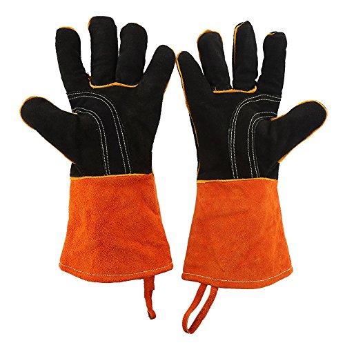 Gojiny Guantes de cocina, guantes de barbacoa, resistentes al calor, guantes de cocina de silicona, 1 par