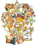 Top Aufkleber ! Set von 50 Hund Corgi Aufkleber Premium Qualität - Vinyls Stickers Nicht Vulgär – Manga, Bombe, Graffiti - Anpassung Laptop, Gepäck, Motorrad, Fahrrad, Scrapbooking