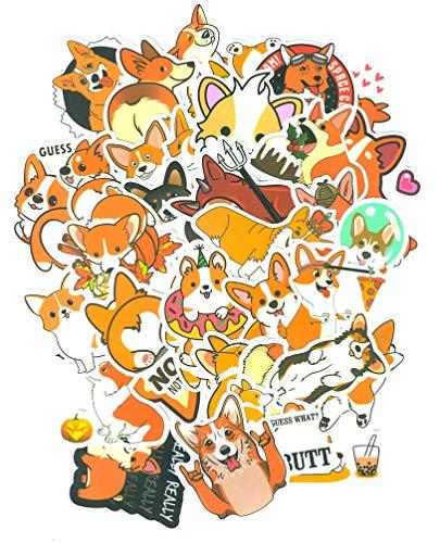 Top Stickers ! Pack van 50 Corgi Hond Stickers - Sticker HD - Pas alles aan wat je wilt, Scrapbooking, DIY, Wall, Bike, Moto, Home, maatwerk, aanpassen