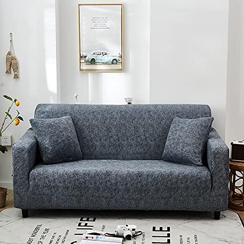WXQY Fundas con patrón Cruzado Funda de sofá elástica elástica Funda de sofá con protección para Mascotas Funda de sofá con Esquina en Forma de L Funda de sofá con Todo Incluido A24 1 Plaza