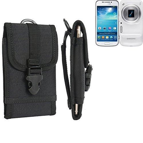 K-S-Trade® Handyhülle Für Samsung Galaxy S4 Zoom Gürteltasche Handytasche Gürtel Tasche Schutzhülle Robuste Handy Schutz Hülle Tasche Outdoor Schwarz