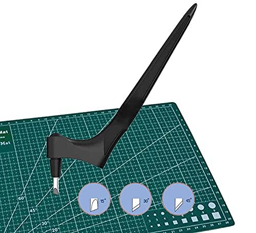 langjiao Craft Cutting Tools, utensili da taglio per taglio giroscopico,con lama rotante a 360 gradi(15°, 30°, 45°), utensile da taglio artistico per (A)