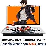Unicview Consola de Videojuegos Jamma Pandora´s Box (Versión actualizada) Juegos Versiones Originales (Neogeo, CPS1, CPS2, CPS3 y Mucho más) fácil de configurar (Pandora Box 6s con 3303 Juegos)