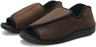 WUHUI Hommes Femmes Chaussons Diabétiques,Chaussures d'ajustement de la déformation de l'œdème du Pied Gras, Coffee_49, Ch...