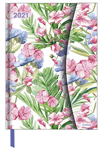 Flower Fantasy 2021 - Diary - Buchkalender - Taschenkalender - 16x22: Magneto Diary