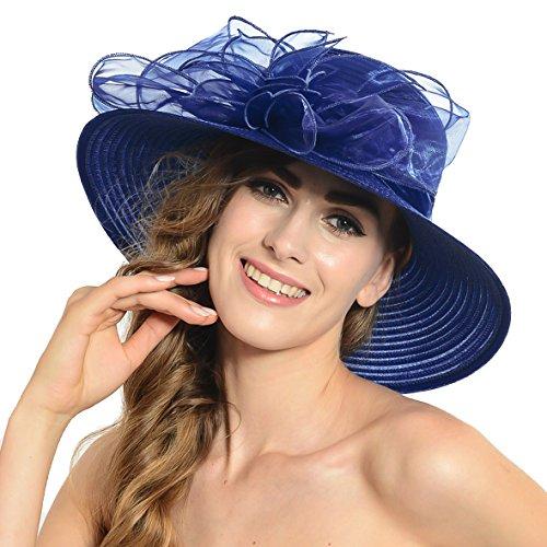 Mujer Oaks Derby vestido de iglesia británica fiesta de té sombrero de boda S052