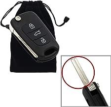 Dewangli Replacement 3 Button Flip Folding Uncut Keyless Entry Remote Control Car Key Fob Shell Case fit for Kia K5 K2 Sportage Rondo Soul Rio Optima/Magentis/Lotze.