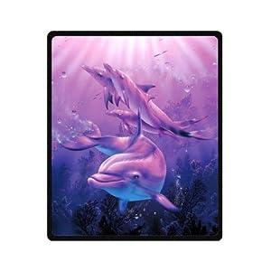 "Mayers 50""(W)x60""(L) (Medium) Discounts Deep Sea Dolphin Fleece Throw Blanket"