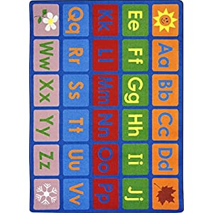 Any Day Alphabet Kids Rugs Area Rug 5'4″ X 7'8″