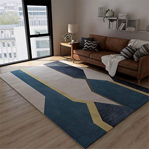 RUGMYW No Se Desvanece Alfombra dormitorios Elementos Abstractos Azules Amarillos Beige Alfombra Outlet 40X60cm