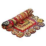 Aakriti Gallery Commerce équitable coloré rectangulaire avec Bordure Ronde Faite à...