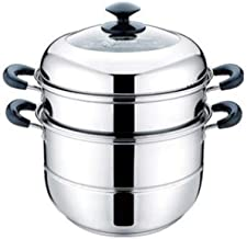 DPWH Steamer Pot Home Kitchen 3-layer Stainless Steel Steamer Set Outdoor Gas Stove Cooker Universal Steamer Cookware Good...