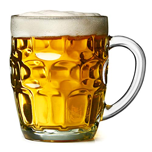 Top Choice 2415-2642 Tarro De Cerveza Vaso De Vidrio Cervecero 550 ml para Micheladas, Cerveza