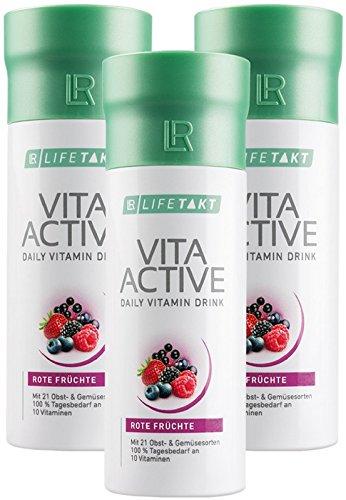 LR LIFETAKT Vita Active Rote Früchte Nahrungsergänzungsmittel (3x 150 ml)