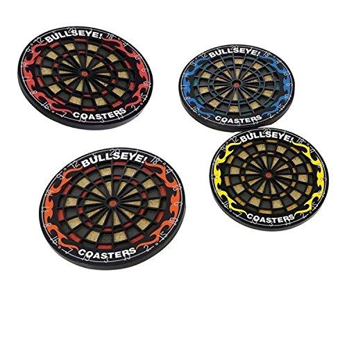 Hxhome 4 Pcs Set Bullseye Dart Retro Coasters Bar Darts Cup Mat by Hxhome