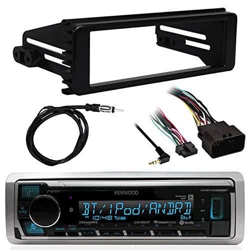 """Kenwood Marine Digital Media Bluetooth Receiver, Metra 1998-2013 Harley-Davidson Single-DIN Dash Kit, Antenna - 40"""""""