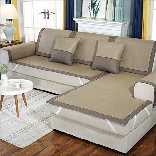 Cubierta de sofá comprar uno obtener uno gratis Cubierta de la cubierta del sofá seccional con la banda elástica, el protector de muebles de la cubierta del sofá antideslizante de la rota antideslizan