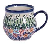 Tazza a bolla in ceramica tradizionale polacca, realizzata a mano, stile Boleslawiec, serie Q.500 350ml Daisy Collection