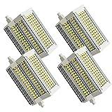 Bulbs 4-PC R7S LED 118mm 50W Luce Calda 3000K 5400LM R7S J118 LED Sostituire Alogena 500W Dimmerabile Lampadina R7S 118mm LED Calda di Vetro per Lampada da Soffitto/da Parete