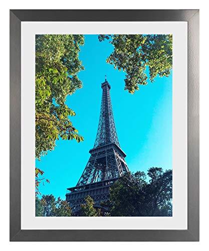 Orion, cornice portafoto, 75 x 98 cm, rettangolare, MDF, Decorazione in acciaio INOX, /Verglasung: Acrylglas klar 1mm