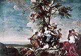 Posterazzi Title Unknown (Allegorical Scene) Poster Print by Giovanni Domenico Ferretti (1692-1769) (24 x 36)